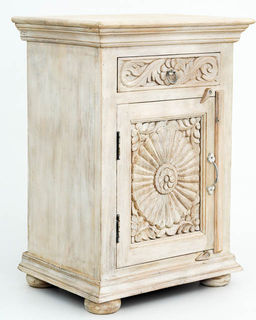 Zahara Bedside Table Whitewash