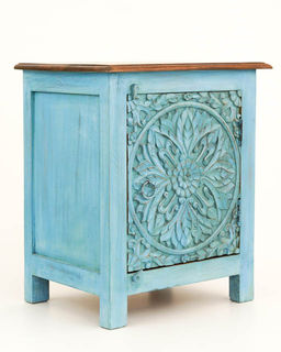 Boho Bedside Table Blue