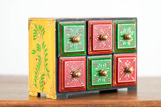 Red & Green 6 Spice Drawers