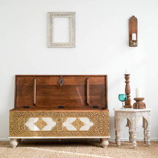 Brass Boho Blanket Box