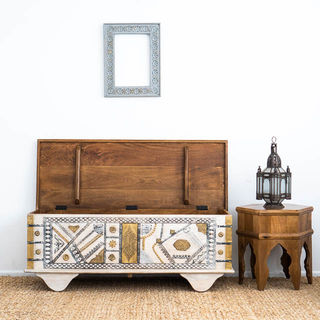 Brass Bohemian Blanket Box