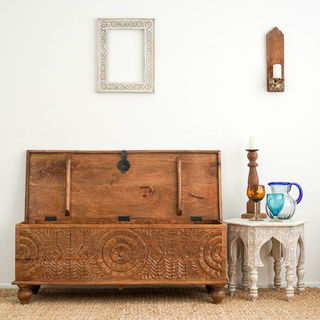 Mandala Blanket Box Natural