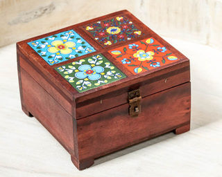 Tiled Spice or Jewellery Box