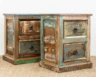 Rustic Indian Bedside Drawers