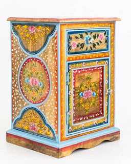 Painted Boho Bedside Table