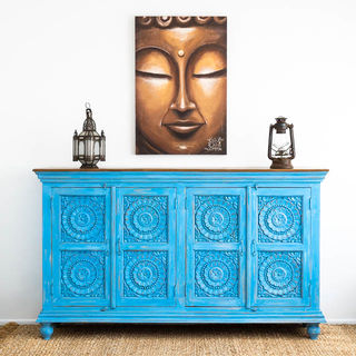 Pondicherry Large Sideboard Blue