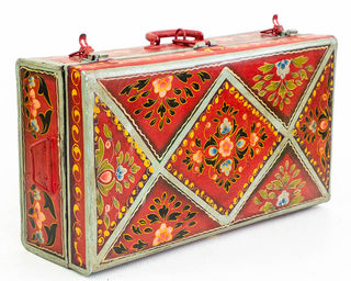 Painted Metal Suitcase 10