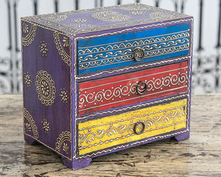 Indian Spice Drawers Purple