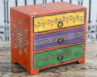 Indian Spice Drawers Orange