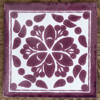 Flor Jardin Purple Tile