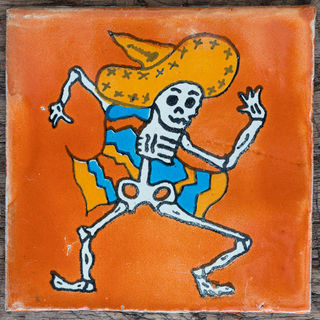 Day of the Dead Fiesta Orange