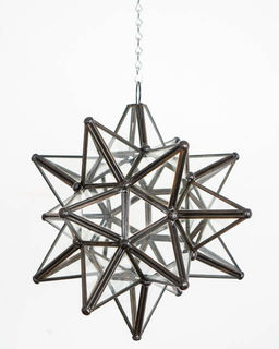 Mexican Clear Glass Star Lantern; Small