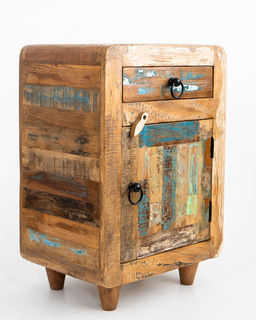 Retro Rustic Bedside Table