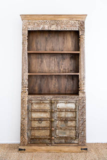 Large Shiva Teak Bookshelf
