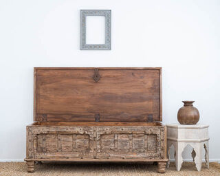 Repurposed Teak Trunk or Coffee Table