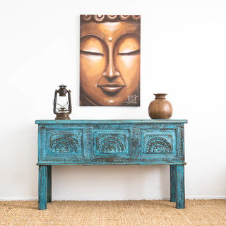Jammu Storage Console Trunk Blue