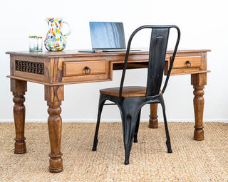 Reclaimed Teak Desk