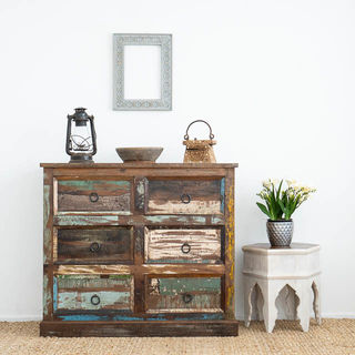 Boho Rustic 6 Drawers A