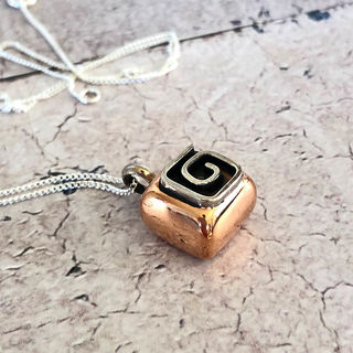 Copper Cube Necklace