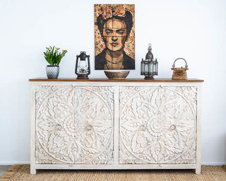 Mandala Sideboard Large White BACK ORDER