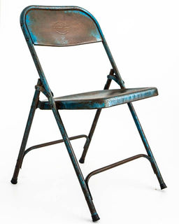 Vintage Indian Folding Chair Blue