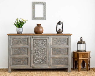 Kailani 6 Drawer Sideboard Grey