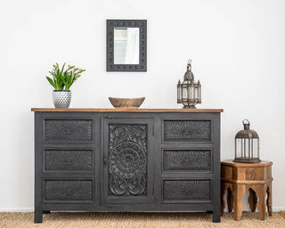 Kailani 6 Drawer Sideboard Charcoal