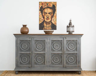 Pondicherry Large Sideboard Grey