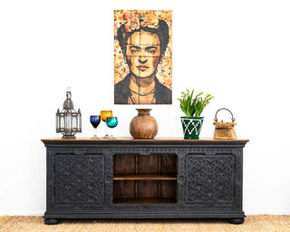 Aabha TV Cabinet or Sideboard Black PRE ORDER