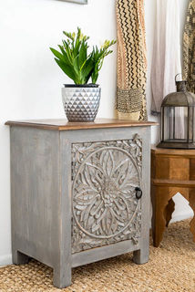 Mandala Side Table Grey