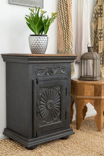 Zahara Bedside Table Charcoal