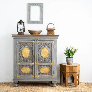Maia Brass Sideboard Grey PRE ORDER