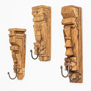 Mixed Vintage Timber Wall Hook