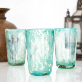 Juno Turquoise Tall Glass