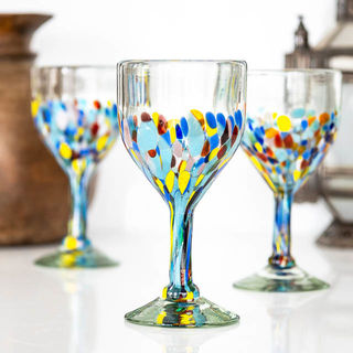 Summer Confetti Wine Glass