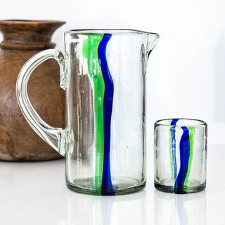 Indie Water Jug Green & Blue