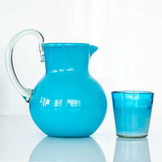 Boho Blue Water Jug
