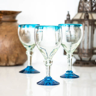 Turquoise Top Wine Glass