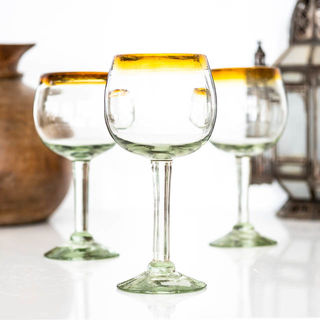 Amber Top Wine Glass