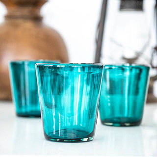 Turquoise Tumbler Glass