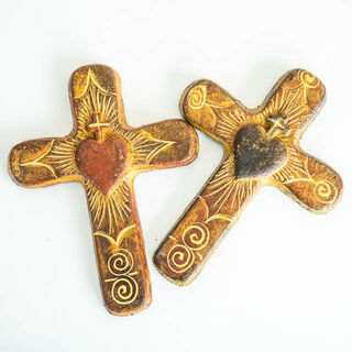 Small Clay Mexican Cross