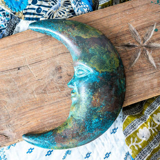Boho Mexican Moon Green
