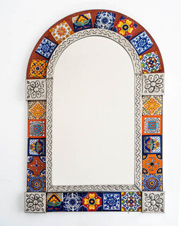 Medium Córdoba Tin Mirror Orange