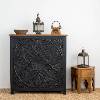 Mandala Circle Sideboard Charcoal