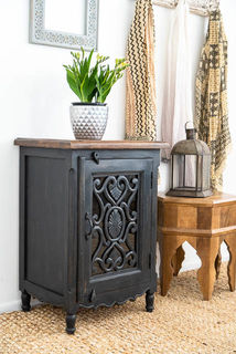 Harper Bedside Table Charcoal