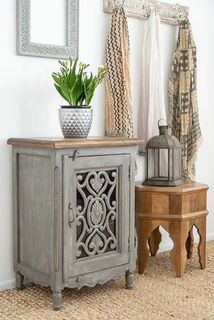 Harper Bedside Table Grey