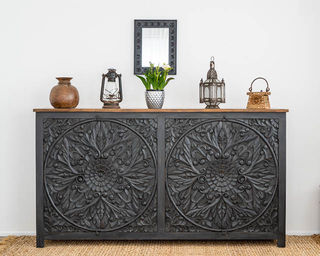 Mandala Sideboard Large Charcoal