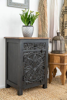 Goa Bedside Table Charcoal