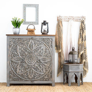 Mandala Circle Sideboard Grey