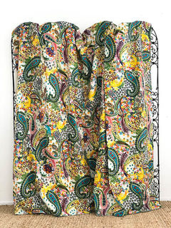 Trippy Paisley Kantha Quilt